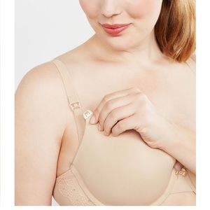 Motherhood beige maternity nursing bra 36D